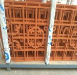 商场门头隔断仿木色铝窗花定制实力厂家