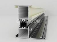 本公司供应隔热断桥铝型材