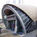 地铁站出口氟碳天花吊顶冲孔铝单板