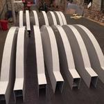 火車站型材鋁方管 天花拉彎鋁方通