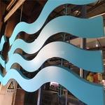 情调酒店选用木纹铝方通吊顶天花