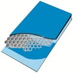 新型吸音隔断墙体微孔铝蜂窝板