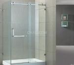砂面、亮面银色淋浴房铝合金型材