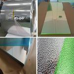 镜面光亮压花铝卷和花纹铝板厂家