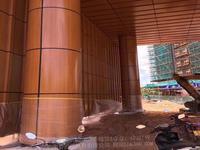 包圓柱鋁板  鋁單板包柱安裝護欄廠