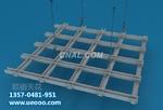 双色铝单板 铝格栅天花 木纹铝格栅