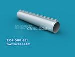 静电粉末喷涂 铝圆管型材 石纹板