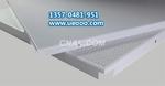 铝天花板吊顶 暗架方板 白色烤漆铝扣板