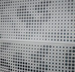 通透电镀冲孔铝板贴图