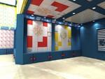 暗架/暗裝聚酯油漆會議室鈦金定制圖案鋁合金扣板吊頂