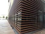 背景墻聚酯粉末激光噴繪公園原色/本色幕墻鋁合金型材