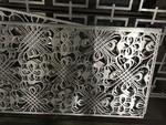 通透條形間隔聚酯油漆白色中式鋁窗花隔斷