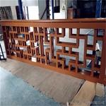 寺庙型材木纹铝窗花-仿古式铝窗花-