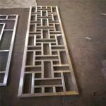 陕西西安铝方管焊接仿木纹窗花