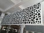 連雲港電器店鋪白色雕花鋁單板大圖