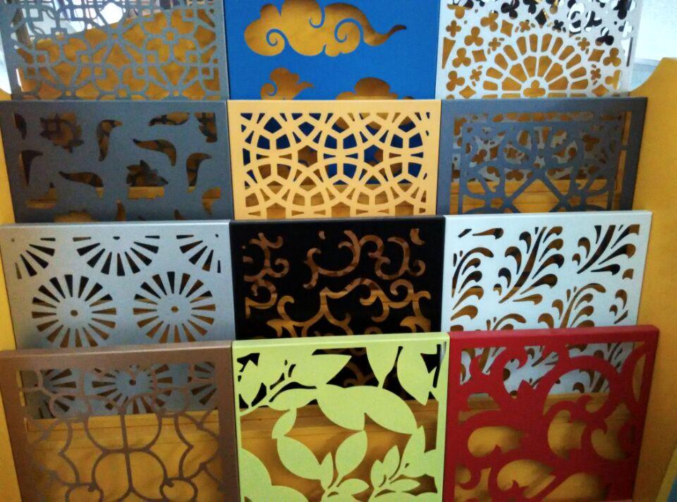 秦皇島餐廳木紋雕花鋁單板隔斷尺寸