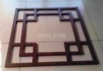 造型木紋型材焊接鋁窗花廠家定制