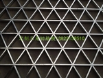 商场铝格栅 组合三角形铝格栅