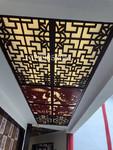 酒店倣古鋁窗花木紋色工藝屏風隔斷