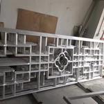 型材铝方通窗花 木纹铝花格
