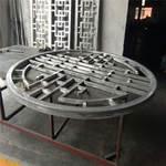 鋁合金倣古鋁型材-圓形木紋鋁窗花
