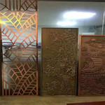 铝板仿古铜屏风-仿古木纹铝窗花