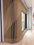 餐廳木紋鋁方通 波浪造型鋁方通