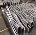 弧形木紋鋁方通-商場造型設計廠家