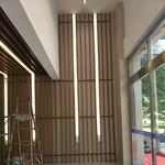木纹铝方通酒店隔断 墙身铝方通