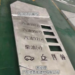 加油站柴油汽油标识镂空铝单板厂家