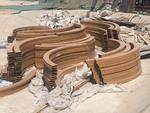 廣東異形拉彎弧形木紋鋁方通廠家