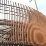 商场弧形铝方通包柱 弧形铝方管