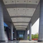 门头雨棚氟碳铝单板-幕墙铝板厂家