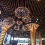 飯館木紋色鋁型材方通