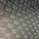 1060五条筋花纹铝板和5052材质