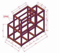 工業鋁型材機器人設備框架定制