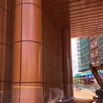 木纹雕花包柱铝单板 厂家定制
