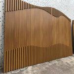 造型鋁方管拼接 木紋色