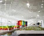 办公室波浪冲孔铝板天花-深化设计