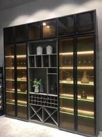 極簡衣櫃門型材廠家玻璃門鋁合金櫃