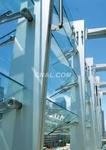 玻璃幕�晹妐音﹛B電動遮陽玻璃百葉廠家