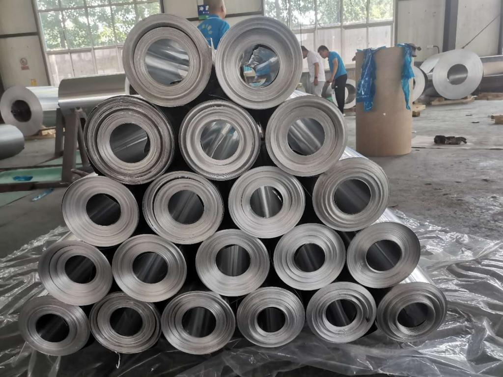 管道保温用1毫米彩色铝皮加工