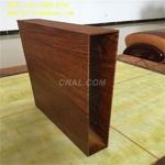 100*25大口徑方管鋁型材 木紋鋁管