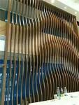 弧形鋁方通吊頂 造型鋁天花