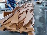 凹槽鋁方通吊頂-弧形鋁方通造型