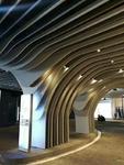 造型木紋弧形鋁方通吊頂天花