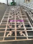 阳台护栏铝窗花 铝方管焊接窗花