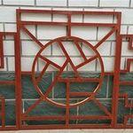 氟碳木纹铝窗花