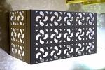 雕花铝百叶空调罩铝合金空调罩厂家