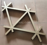 三角形特殊鋁格柵吊頂定做